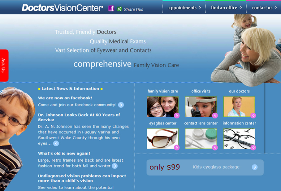 Doctor Vision Web Site