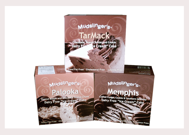 Mudslingers cake line packaging